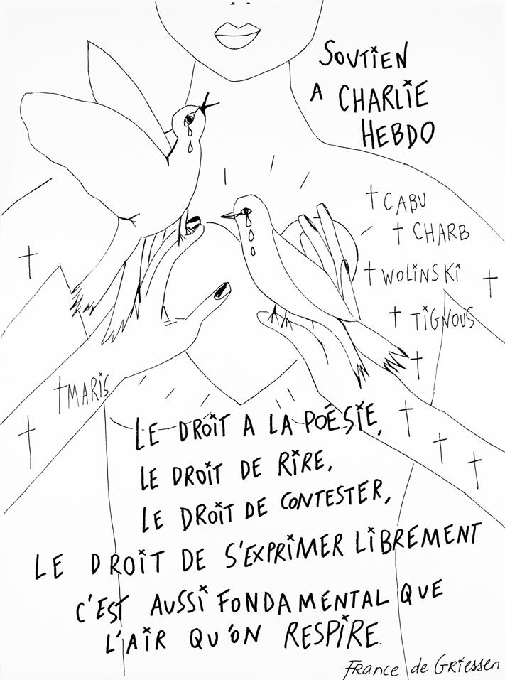 soutien a Charlie Hebdo par France de Griessen-web